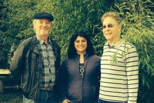 Yvez Crouzet com a Eng. Florestal Monica Pereira e Pedro Gunther da IGG.